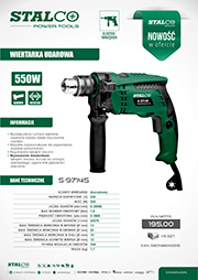 Stalco Power Tools - wiertarka udarowa